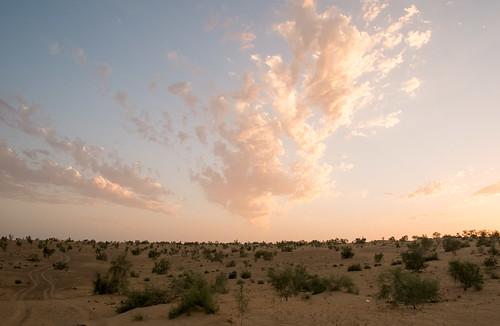 Sunset at Darvaza
