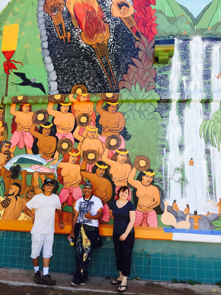 Ancient hawaiian festival depicted on uh maui college mural university of hawaii maui college mural project brings ancient hawaiian makahiki season to life amipublicfo Image collections