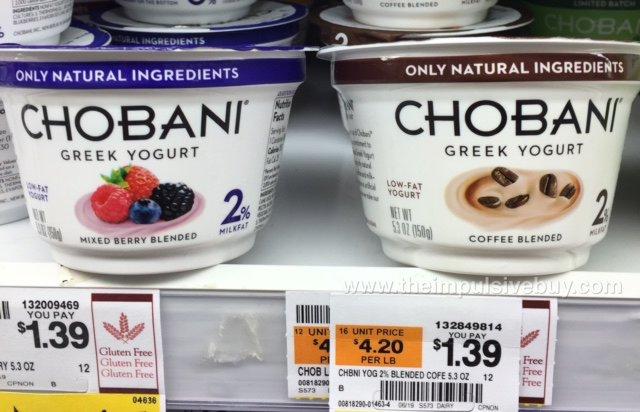 Chobani Mixed Berry Blended and Coffee Blended Greek Yogurt