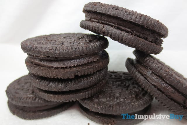 Nabisco Limited Edition Brownie Batter Oreo Cookies Closeup