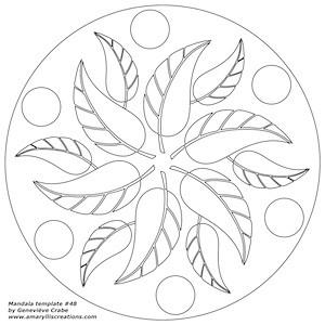 Mandala template 48