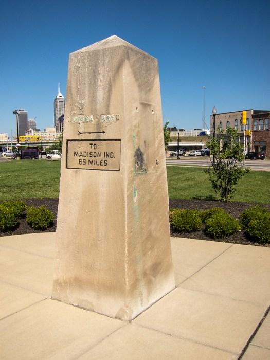 Michigan Road obelisk