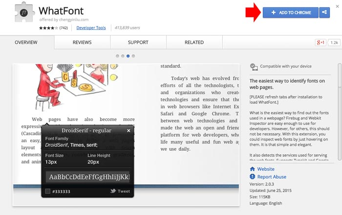 what font chrome step 1