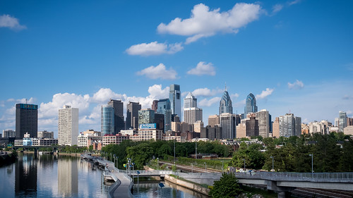 Philadelphia from the South Street Bridge