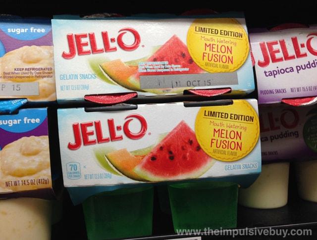 Limited Edition Jello Melon Fusion Gelatin Snacks