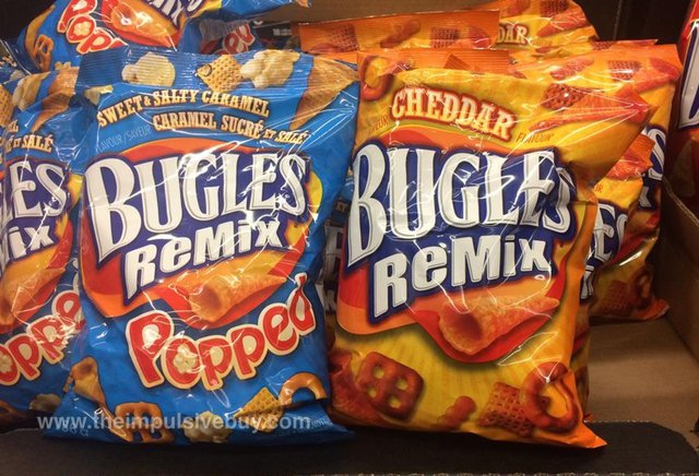 Sweet & Salty Caramel Bugles Remix Popped and Cheddar Bugles Remix