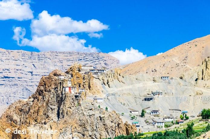 Dhankar Monastery and Dhankar Village