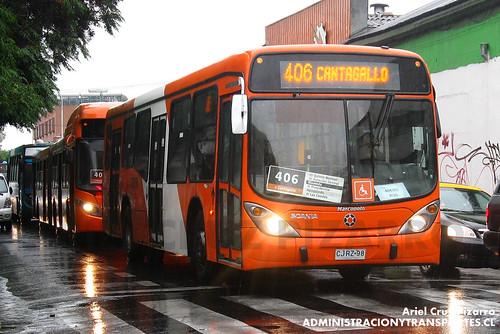Transantiago - Express de Santiago Uno (U4) - Marcopolo Gran Viale / Scania (CJRZ98)