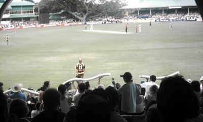 The beer snake does a lap of honour