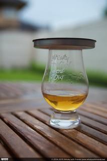 Het deksel van de whisky koker als deksel voor je whisky glas!