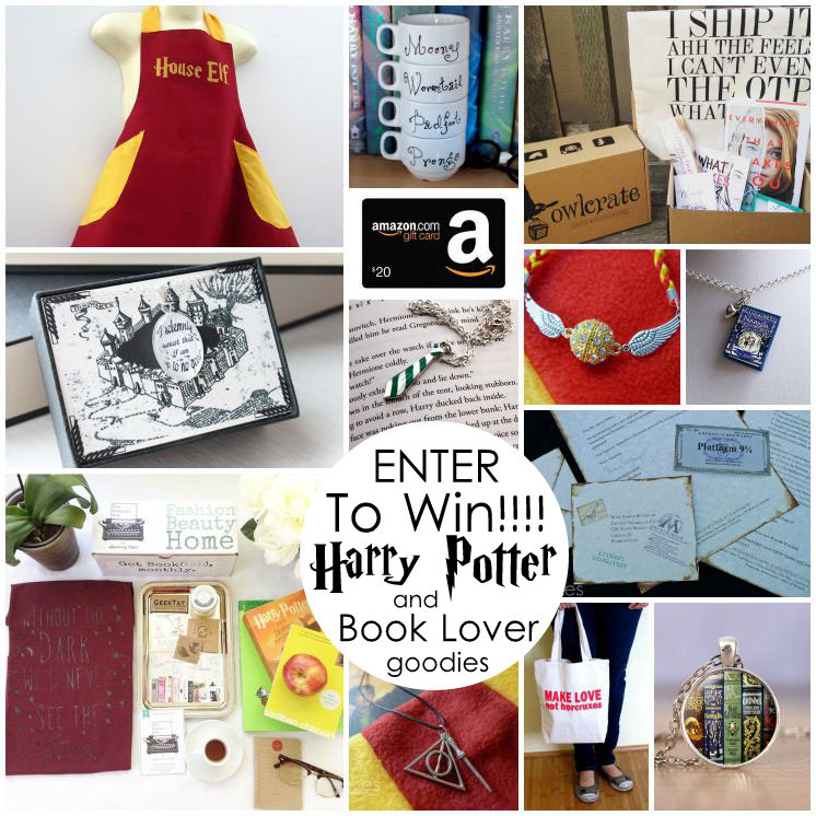 Enter to win a bunch of awesome Harry Potter and book lover prizes in the Happy Harry Potter giveaway!