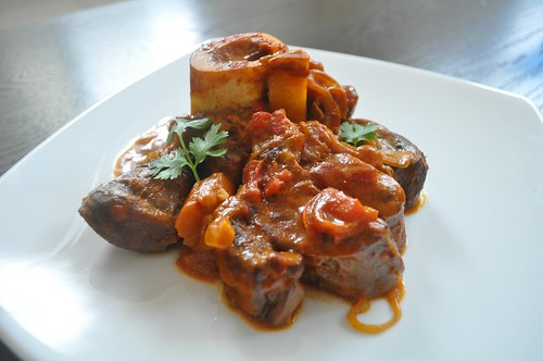curried grass fed beef shanks