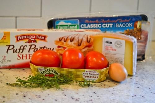 Tomato, Bacon & Gruyere Tart-1