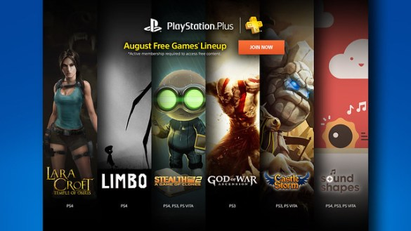 PS Plus August 2015