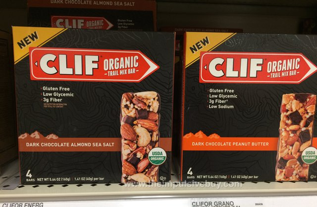 Clif Organic Trail Mix Bar (Dark Chocolate Almond Sea Salt and Dark Chocolate Peanut Butter)