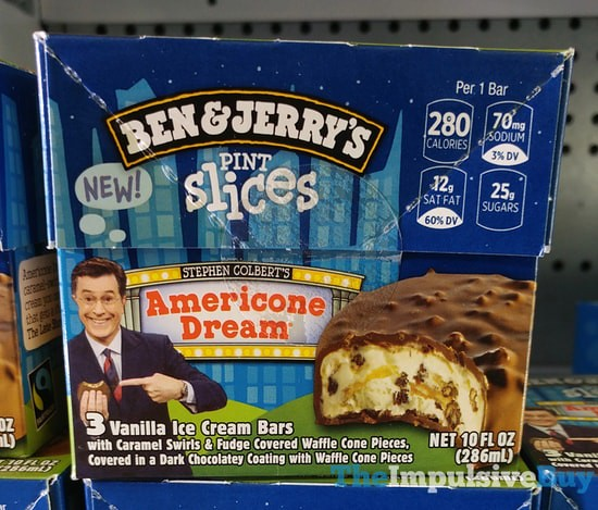 Ben & Jerry's Stephen Colbert's Americone Dream Pint Slices