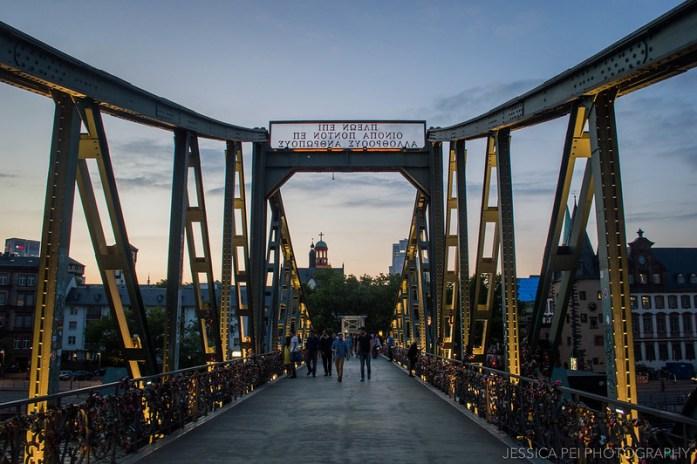 Eiserner Steg Bridge Frankfurt Germany