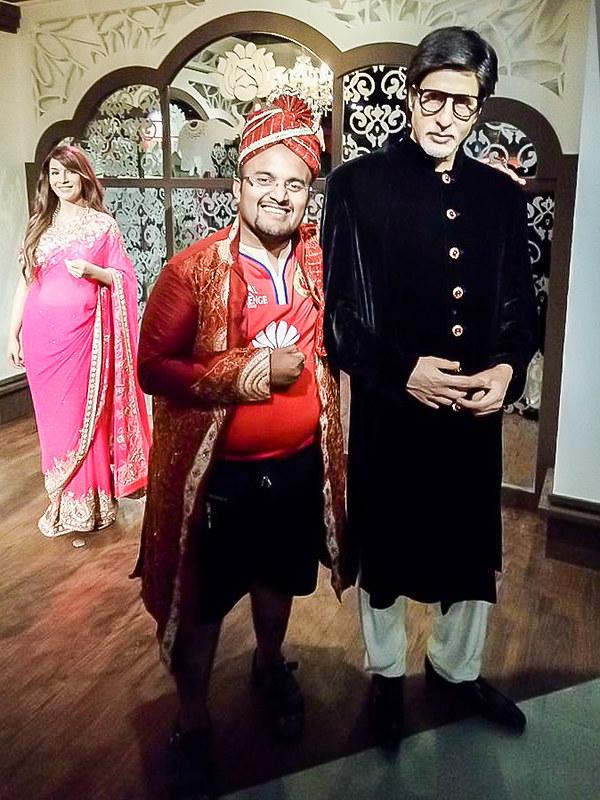 Amitabh Bachchan and Nivedith G Madam Tussauds