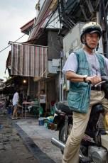 Man on Honda Dream Bike