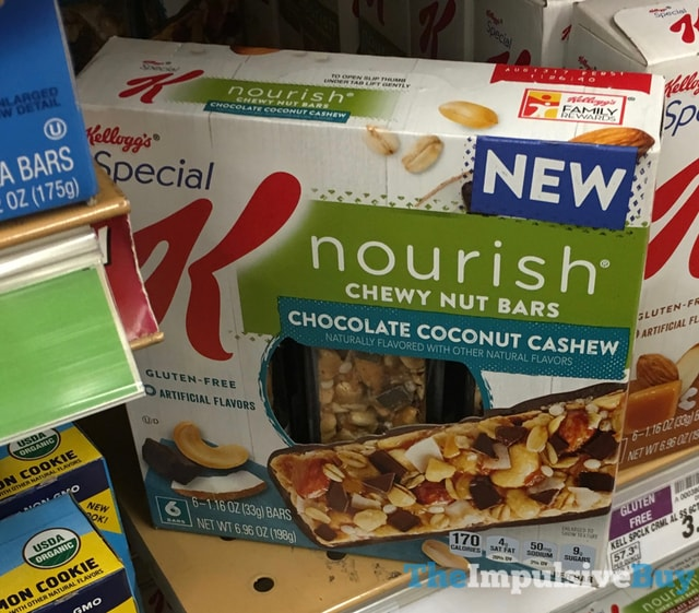 Kellogg's Special K Nourish Chocolate Coconut Cashew Chewy Nut Bars