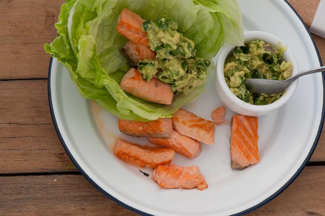 Fish Wraps with Limey Avocado