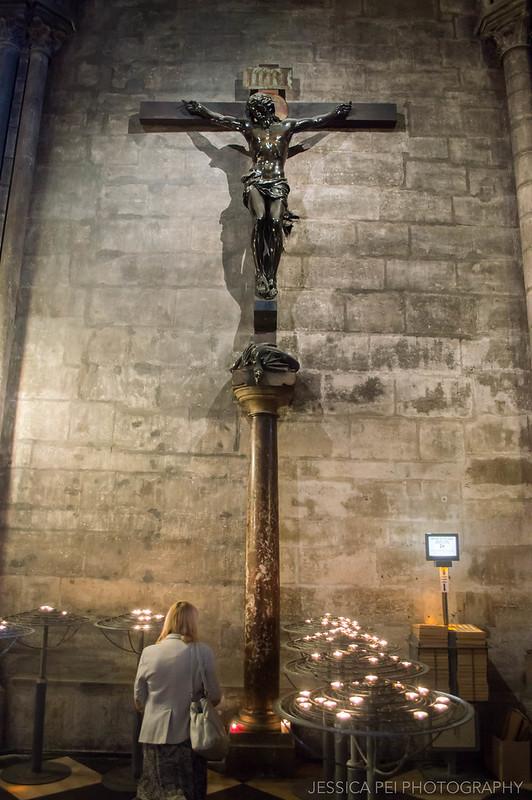 Cross Notre Dame Cathedral Paris