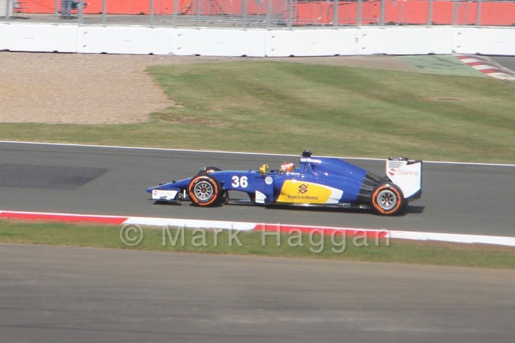 Raffaele Marciello in Free Practice 1 at the 2015 British Grand Prix