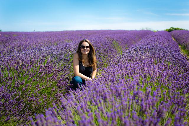 Adriana at the Lavender farm