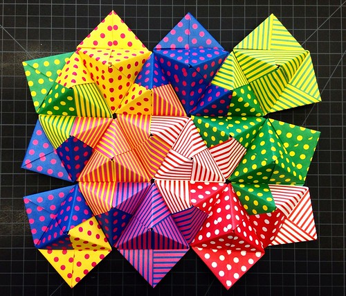 Modular Origami With Colour And Pattern Canvas To The Imagination Best Patterned Origami Paper