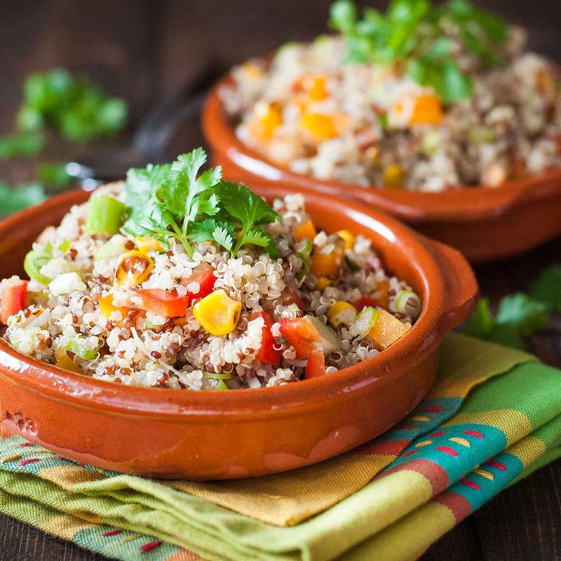 Southwest quinoa salad with lime vinaigrette   Easy, vegan, and gluten free!