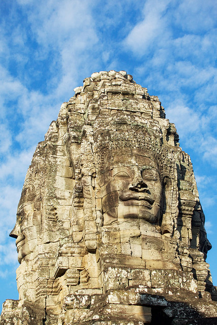 Love these faces at Bayon in Angkor Thom.