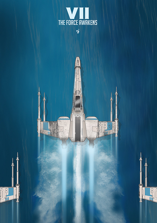 X-Wing - The Force Awakens poster