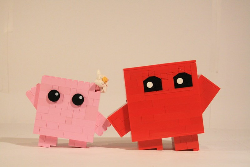 She loves Meat Boy, and Meat Boy Loves her.