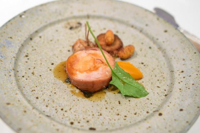 Devil's Gulch Rabbit Serrano Ham, Collard Greens, Smoked Green Chickpeas, Potato Gnocchi
