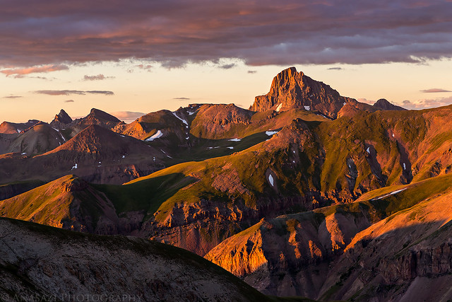 Wetterhorn Peak Sunset