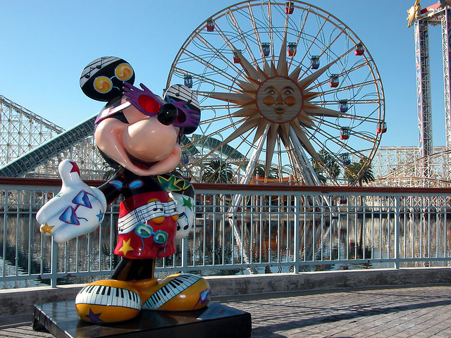 Sun Wheel and a 75th Mickey