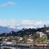 A post on Twitter convinced me to get out of my jammies and look at the snow-capped mountains. #12blaxx