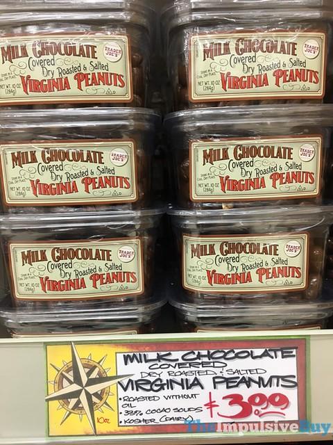 Trader Joe's Milk Chocolate Covered Dry Roasted & Salted Virginia Peanuts