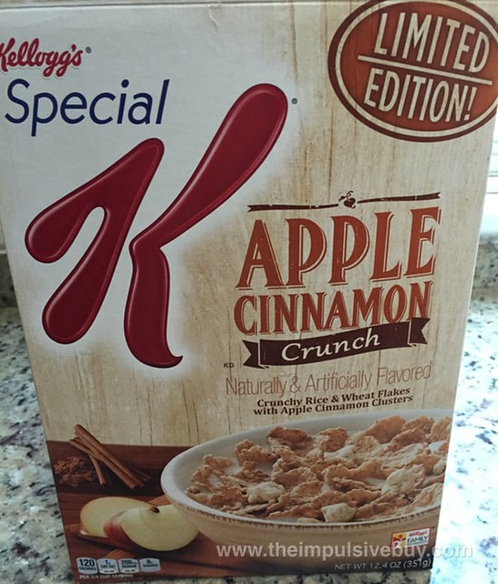 Kellogg's Special K Limited Edition Apple Cinnamon Crunch Cereal