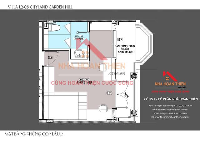 Thiết kế kiến trúc nhà L2.8 KDC CityLand Garden Hills