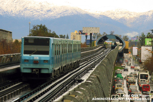Metro de Santiago - Alsthom NS74 P3031 - Camino Agrícola / San Joaquín (L5)