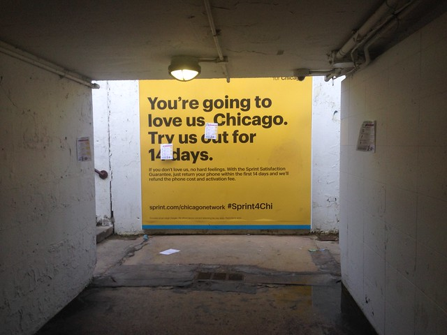 We can sell ads on the Lakefront Trail underpasses, but they're still shitty to walk through