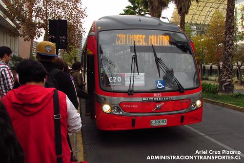 Transantiago - Redbus Urbano - Neobus Mega BRT / Volvo (CJRK83)