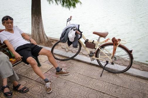 Man with Momentum Bike