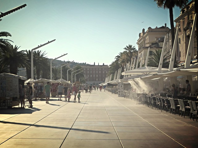 the riva, things to do in split, budget trip to split, places to visit in split