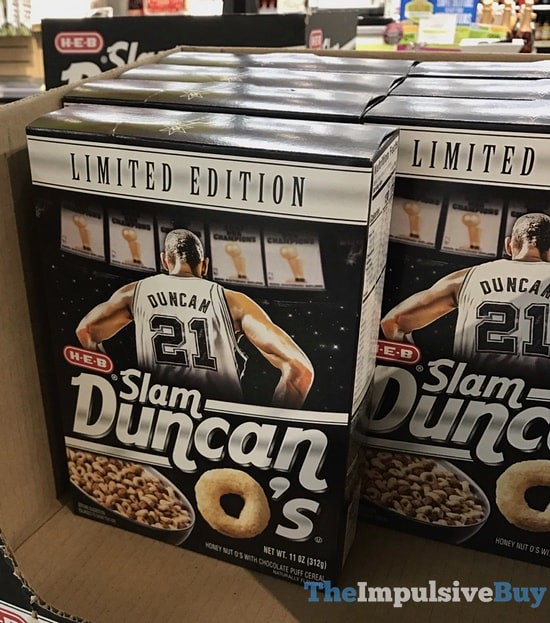 Limited Edition H-E-B Slam Duncan O's Cereal
