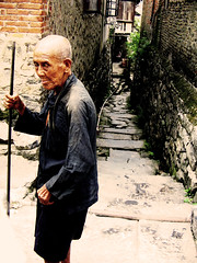 Old man in alley
