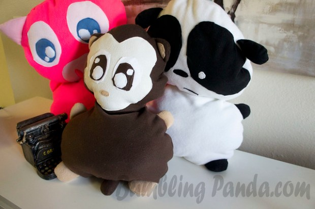 monkey panda and pig by Bumbling Panda