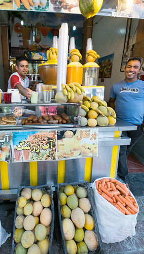 Our favorite juice stand in Shiraz, Iran.