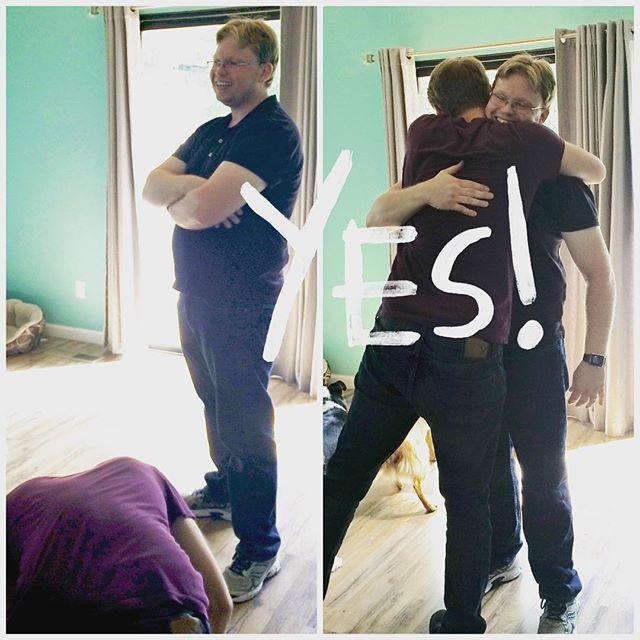 @joshua300td left him hanging at first but agreed to be one of @adamtturnbull's groomsmen. #datwedding2016 #groomsmen #bromance